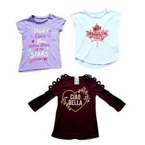 Lot 2 of Girl's Short Sleeve Shirts Size 7/8